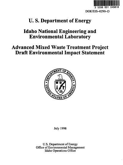 Advanced Mixed Waste Treatment Project PDF