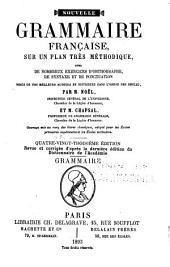 Nouvelle grammaire française: sur un plan très méthodique, Volume1