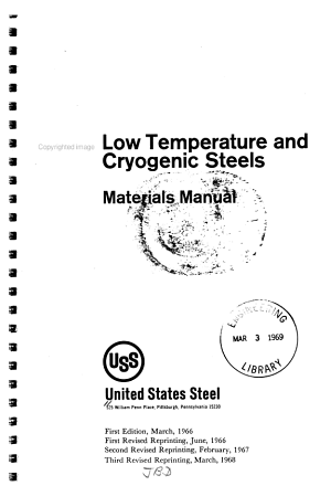 Low Temperature and Cryogenic Steels PDF