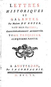 Lettres historiques et galantes: Volume3