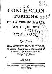 La concepcion purisima de la Virgen Maria Madre de Dios