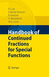 Handbook of Continued Fractions for Special Functions
