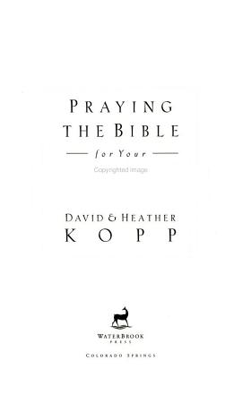 Praying the Bible for Your Marriage PDF