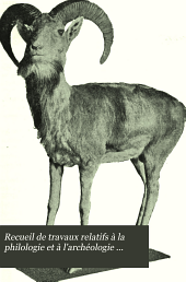 Recueil de travaux relatifs à la philologie et à l'archéologie égyptiennes et assyriennes: Volumes24à25