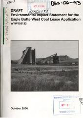 Eagle Butte West Coal Lease Application: Environmental Impact Statement