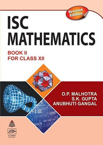S  Chand   s ISC Mathematics Class XII PDF