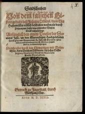 Sendschreiben von dem falschen Historigedicht deß Jesuiter Ordens, von Elia Hasenmüller erstlich beschriben, nachmals durch Polycarpum Leyser unverschämbter Weiß in Truck außgesprengt