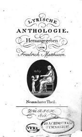 Lyrische Anthologie: Bände 19-20