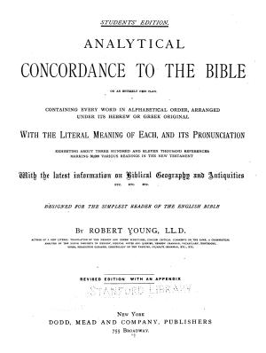 Analytical Concordance to the Bible PDF