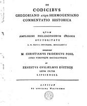 De codicibus Gregoriano atque Hermogeniano: commentatio historica