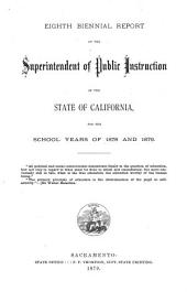 Biennial Report of the Superintendent of Public Instruction: Volume 8