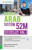 Bahasa Arab Sistem 52M Vol  1 PDF