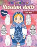 Russian Dolls Coloring 1 - Matryoshkas - Night
