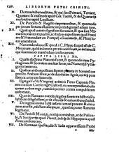 Petri Criniti... De Honesta disciplina libri XXV. De Poetis Latinis eiusdem libri V Poëmatum quoque illius libri II...