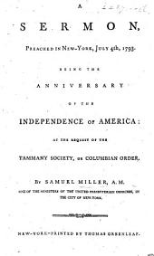 A Sermon [on 2 Cor. iii. 17] preached in New York, July 7th, 1793, etc