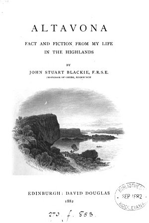 Altavona  Fact and Fiction from My Life in the Highlands