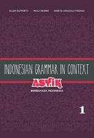 Indonesian Grammar in Context PDF