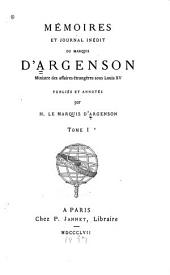 Mémoires et journal inedit