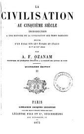 Œuvres complètes der A. F Ozanam: La civilisation au cinquième siècle