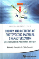 Theory And Methods Of Photovoltaic Material Characterization