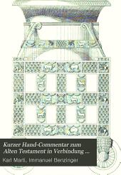 Kurzer Hand-Commentar zum Alten Testament in Verbindung mit I. Bensinger [et al.]: Band 2