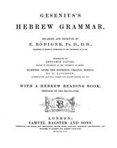 Gesenius's Hebrew Grammar: Enlarged and Improved