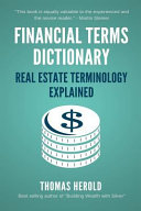 Financial Terms Dictionary   Real Estate Terminology Explained