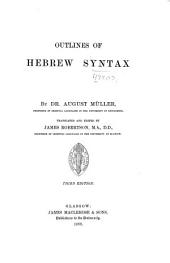 Outlines of Hebrew Syntax