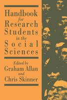 Handbook for Research Students in the Social Sciences PDF