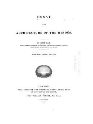 Essay on the Architecture of the Hind  s