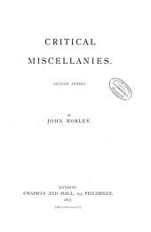Critical Miscellanies, Second Series: Volume 2