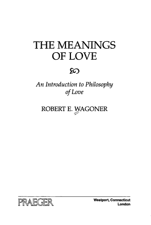 The Meanings of Love