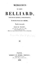 Mémoires du comte Belliard: écrits par lui-même, recueillis et mis en ordre par M. Vinet, Volume2