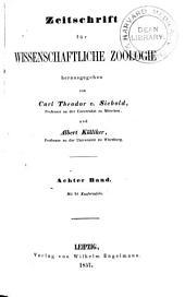 Zeitschrift für wissenschaftliche Zoologie: Band 8