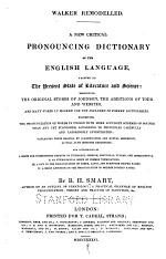 A New Critical Pronouncing Dictionary of the English Language