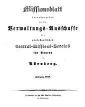 Missionsblatt: 1851