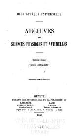 Bibliotheque universelle: Archives des sciences physiques et naturelles