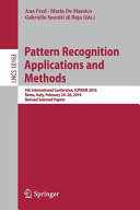 Pattern Recognition Applications and Methods