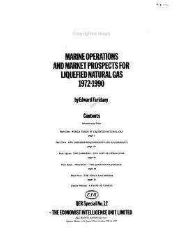 LNG Marine Operations and Market Prospects for Liquefied Natural Gas  1972 1990 PDF