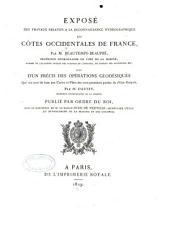 Exposé des travaux relatifs à la reconnaissance hydrographique des côtes, occidentales de France