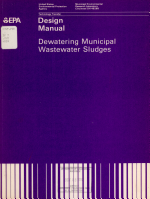 Process Design Manual for Dewatering Municipal Wastewater Sludges