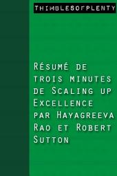 Résumé de 3 minutes du livre Scaling Up Excellence de Hayagreeva Rao et Robert Sutton