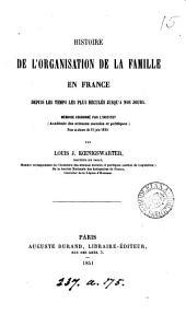 Histoire de l'organisation de la famille en France