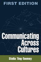 Communicating Across Cultures  First Edition PDF