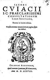 Consultationes: liber singularis