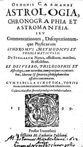 Astrologia, chronographia et astromanteia