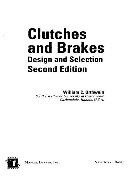 Clutches and Brakes PDF