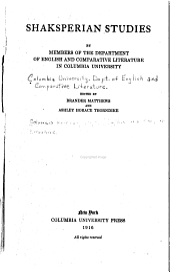 Shaksperian Studies