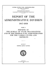 Report of the Administrative Division 1917-1919