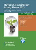 Plunkett's Green Technology Industry Almanac 2013